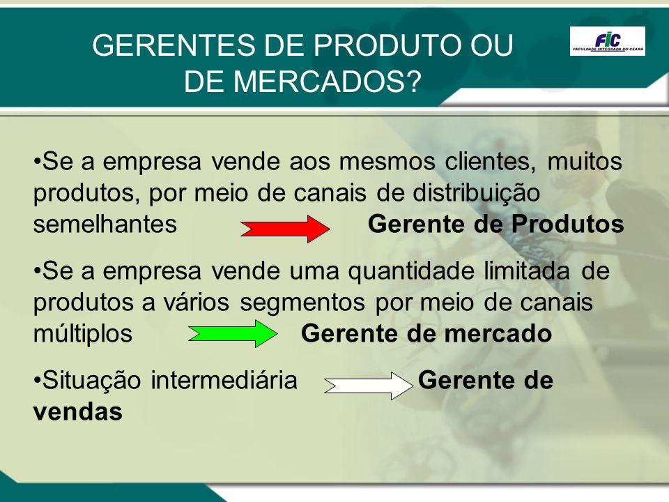 GERENTES DE PRODUTO OU DE MERCADOS