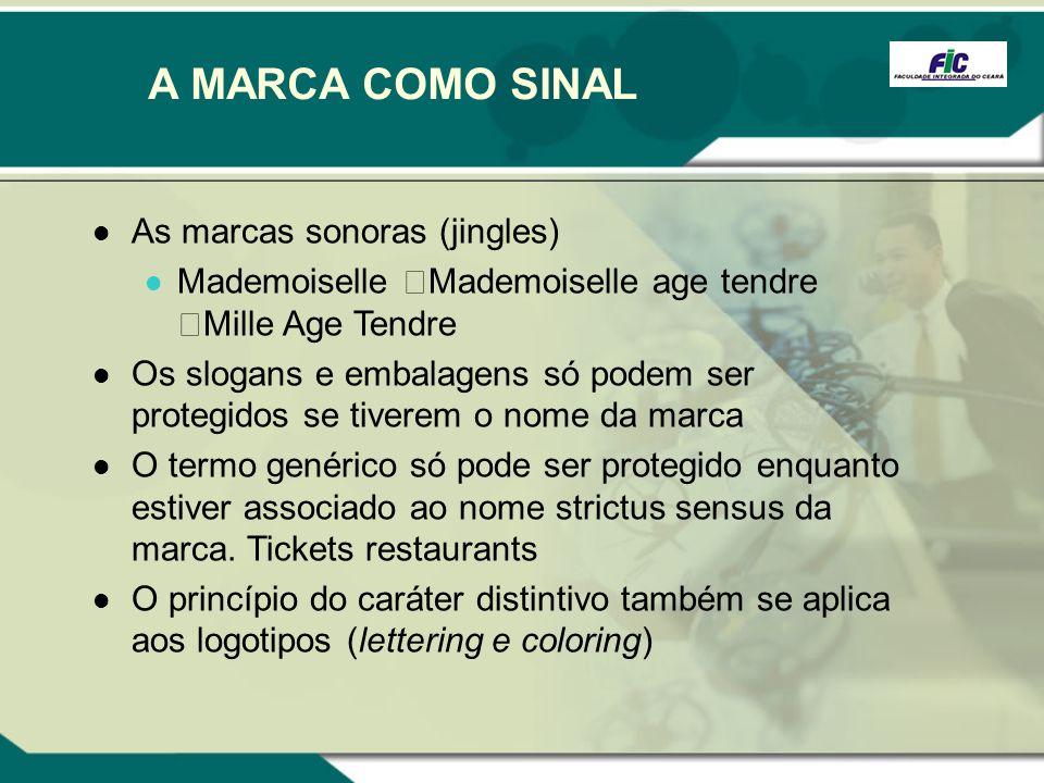 A MARCA COMO SINAL As marcas sonoras (jingles)