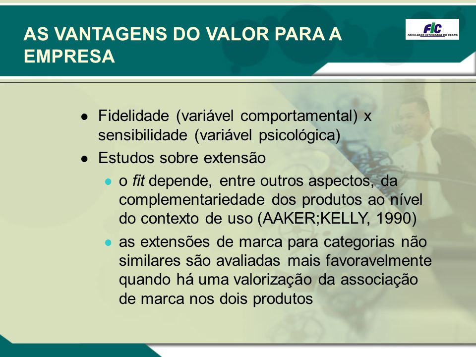 AS VANTAGENS DO VALOR PARA A EMPRESA