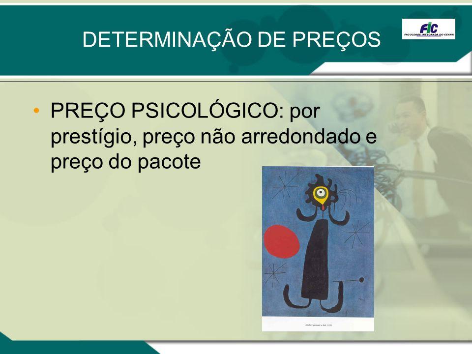 DETERMINAÇÃO DE PREÇOS