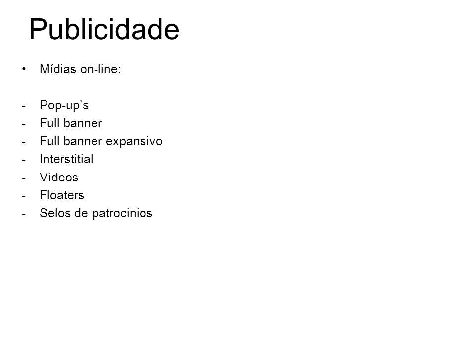 Publicidade Mídias on-line: Pop-up's Full banner Full banner expansivo
