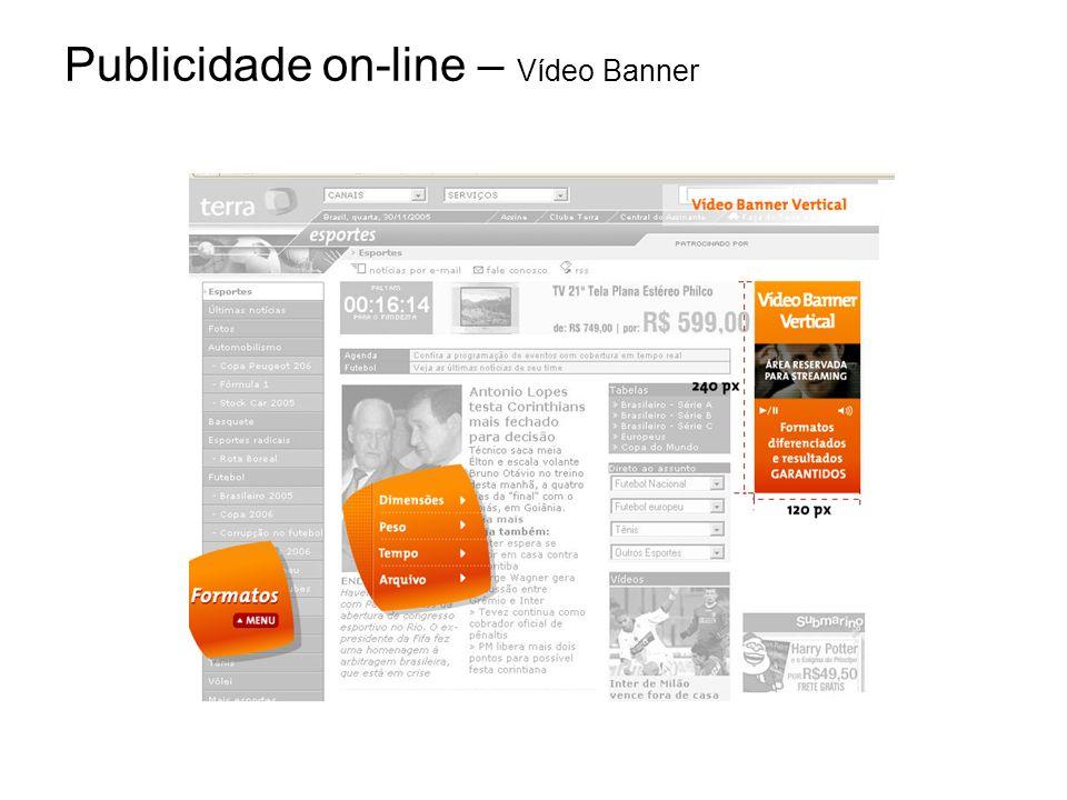 Publicidade on-line – Vídeo Banner