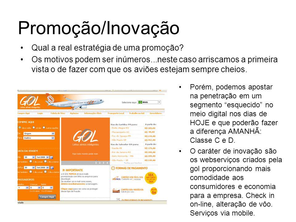 Promoção/Inovação Qual a real estratégia de uma promoção