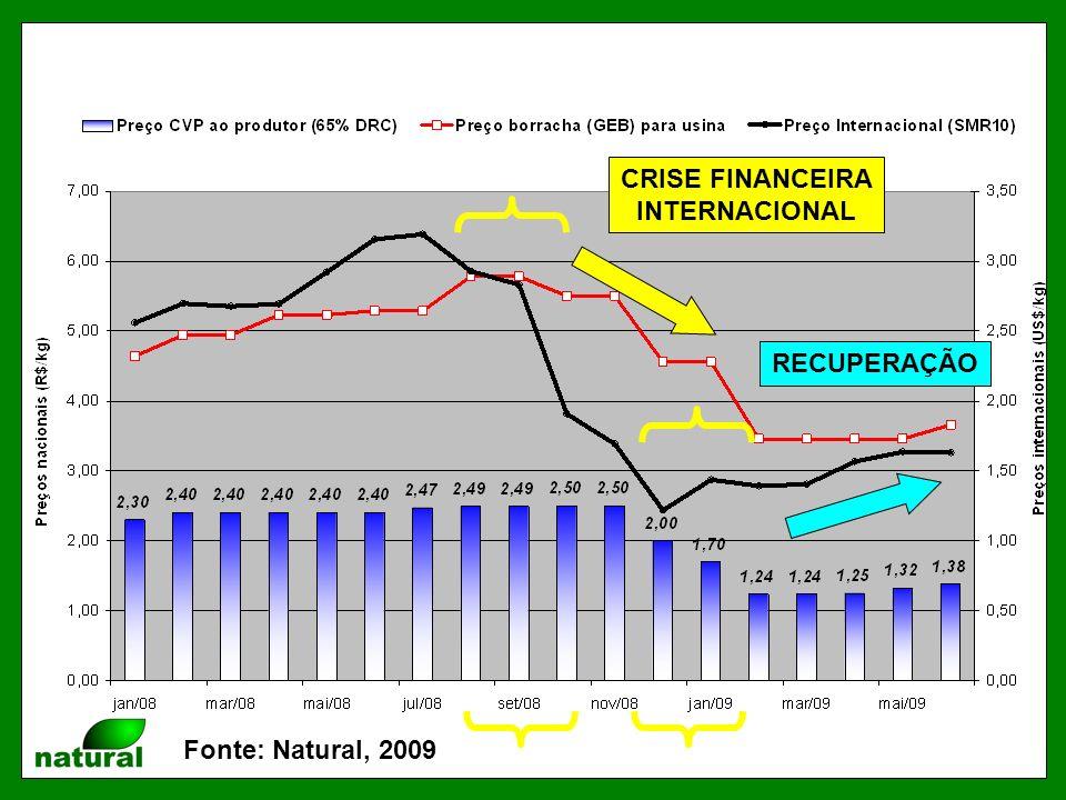 CRISE FINANCEIRA INTERNACIONAL RECUPERAÇÃO Fonte: Natural, 2009