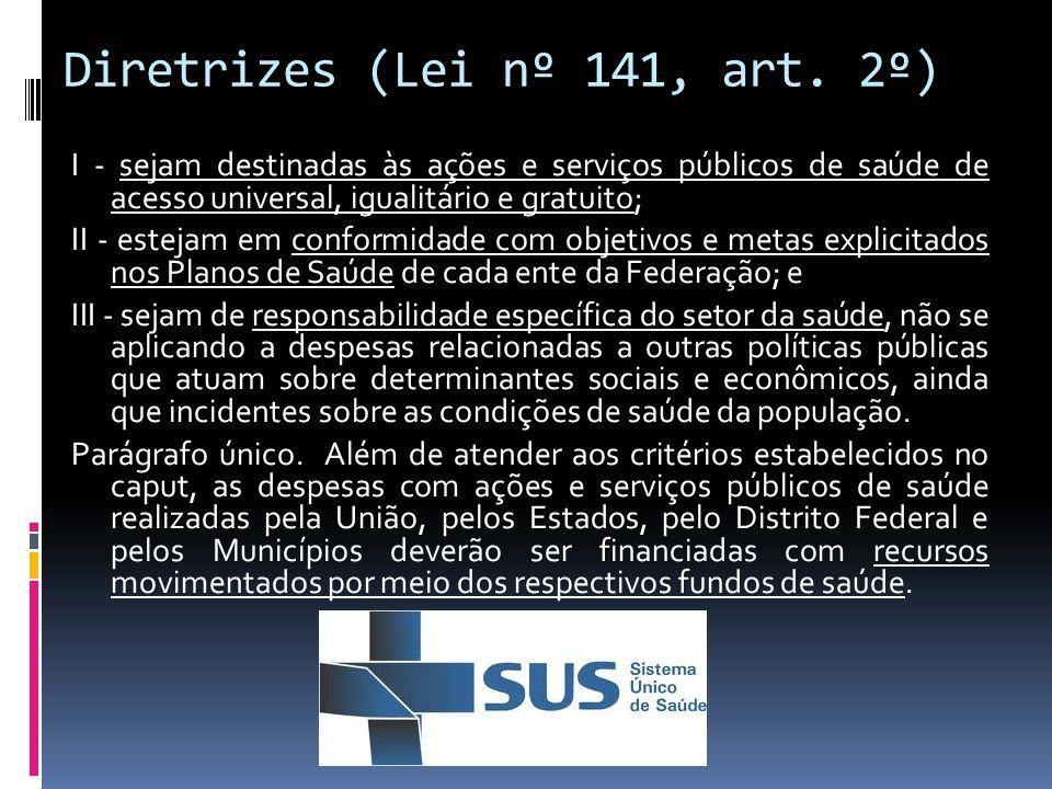 Diretrizes (Lei nº 141, art. 2º)