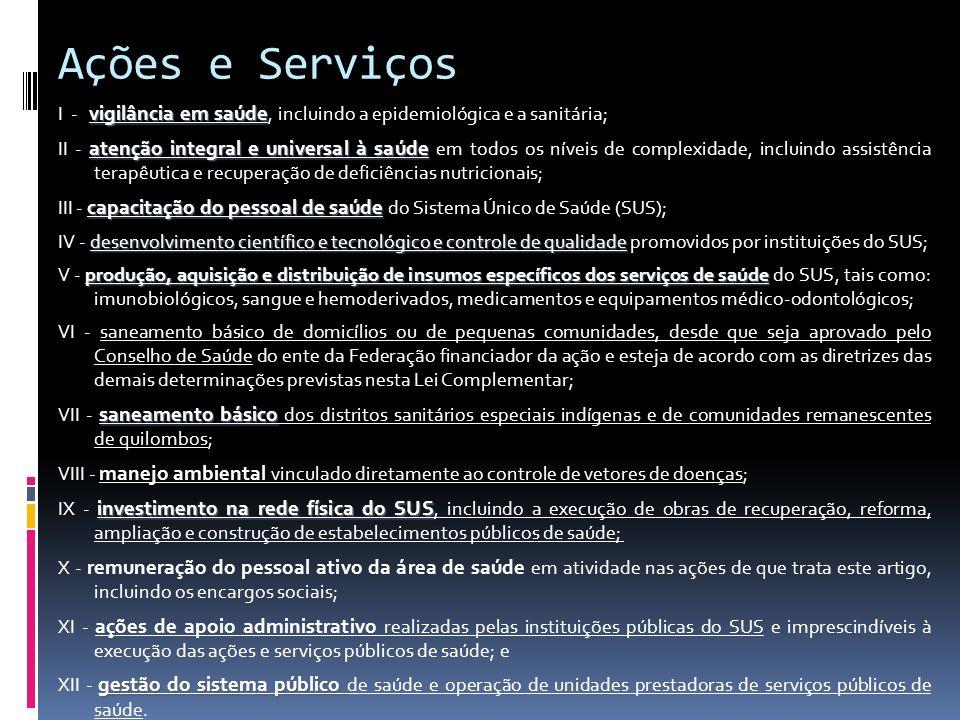 Ações e Serviços