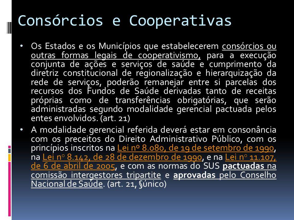 Consórcios e Cooperativas