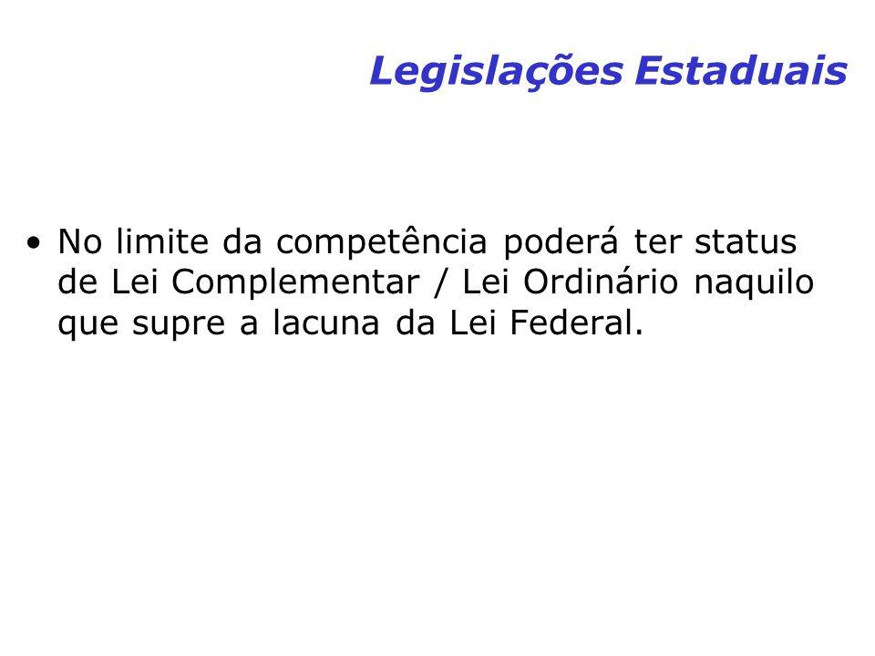 Legislações Estaduais