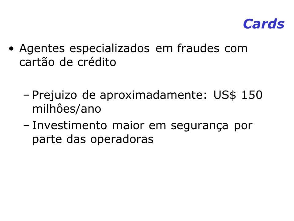Cards Agentes especializados em fraudes com cartão de crédito