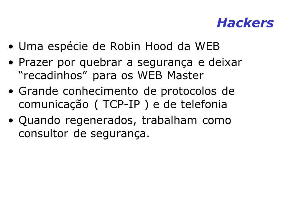 Hackers Uma espécie de Robin Hood da WEB