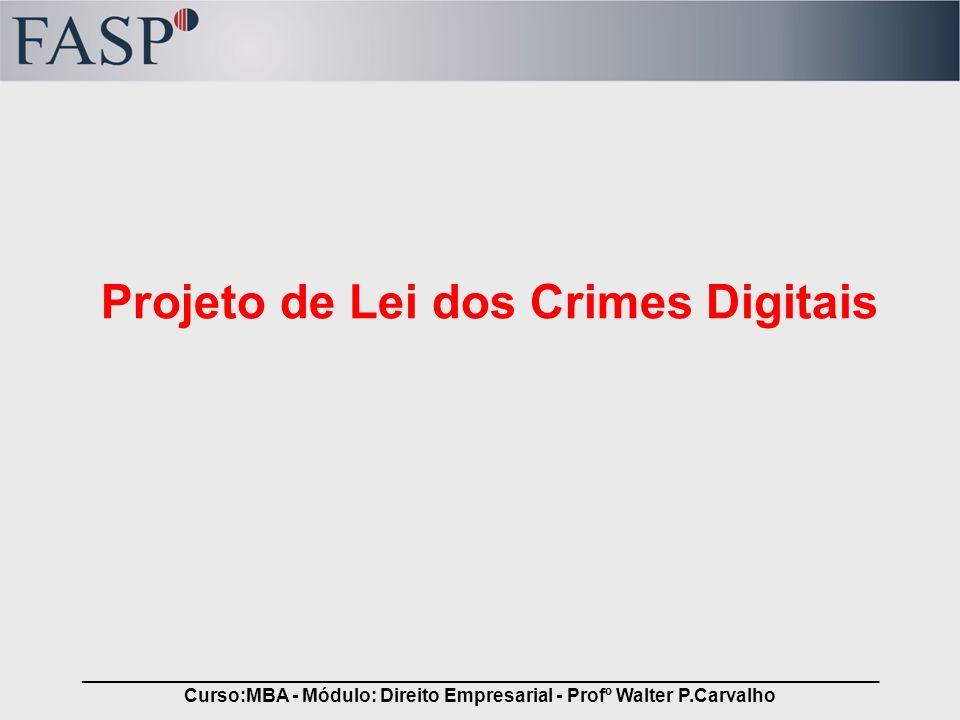 Projeto de Lei dos Crimes Digitais