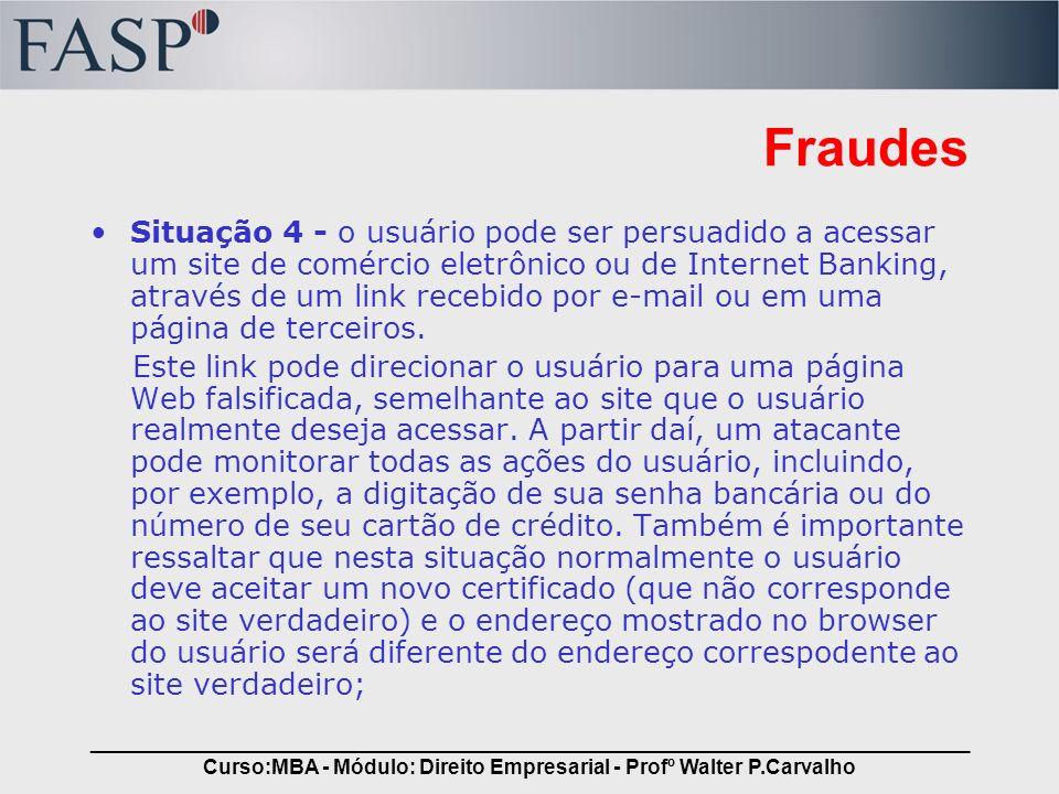 Curso:MBA - Módulo: Direito Empresarial - Profº Walter P.Carvalho
