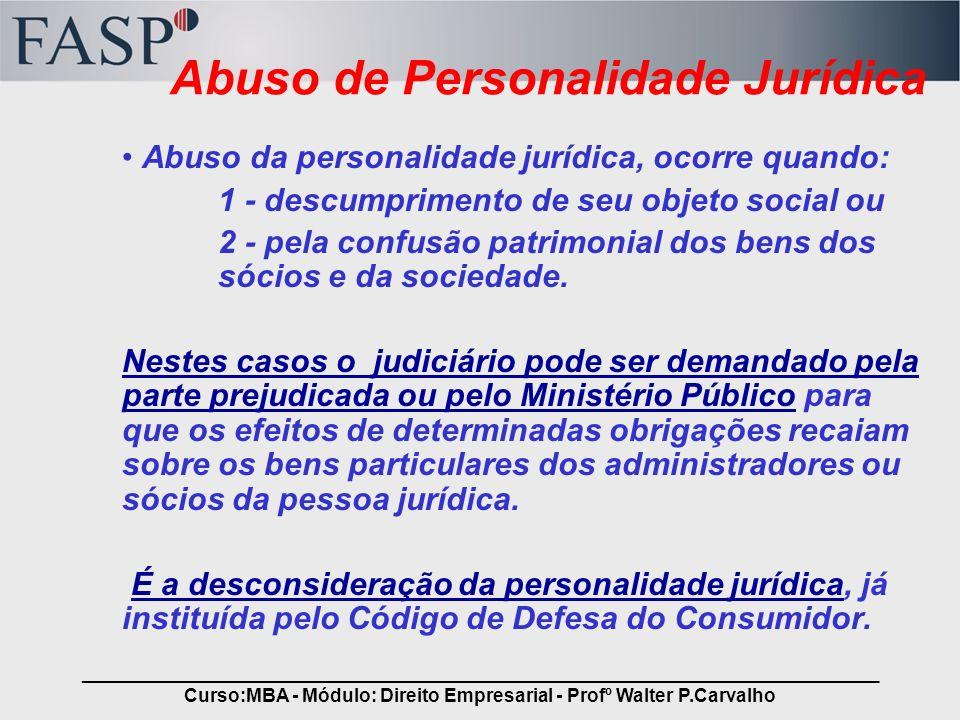 Abuso de Personalidade Jurídica