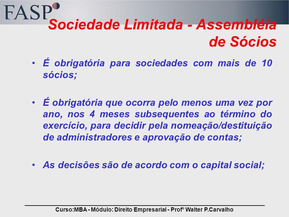 Sociedade Limitada - Assembléia de Sócios