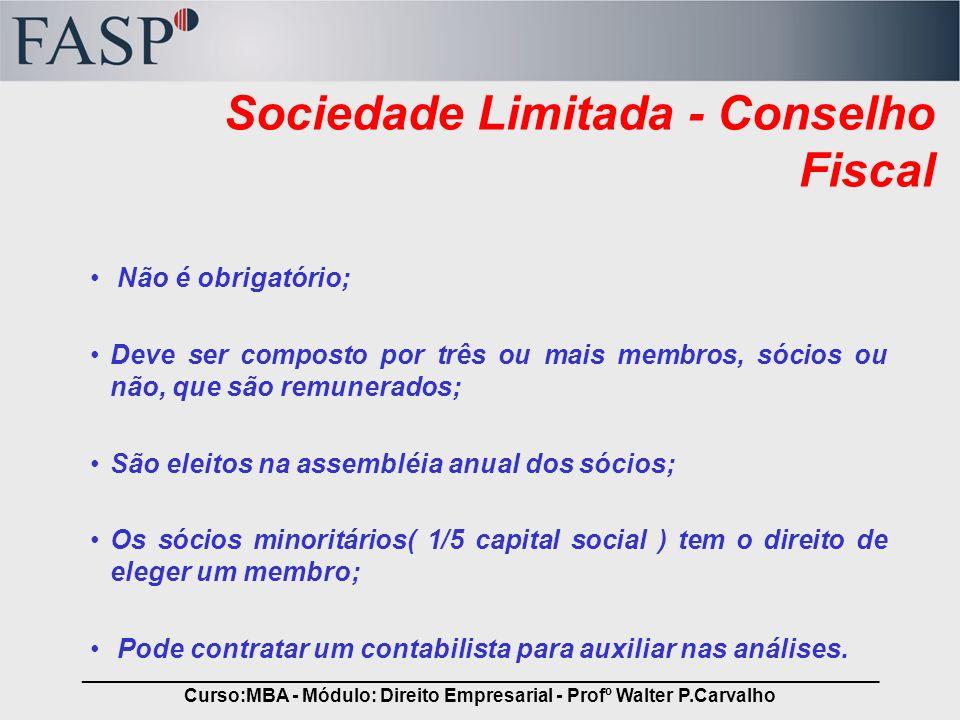 Sociedade Limitada - Conselho Fiscal
