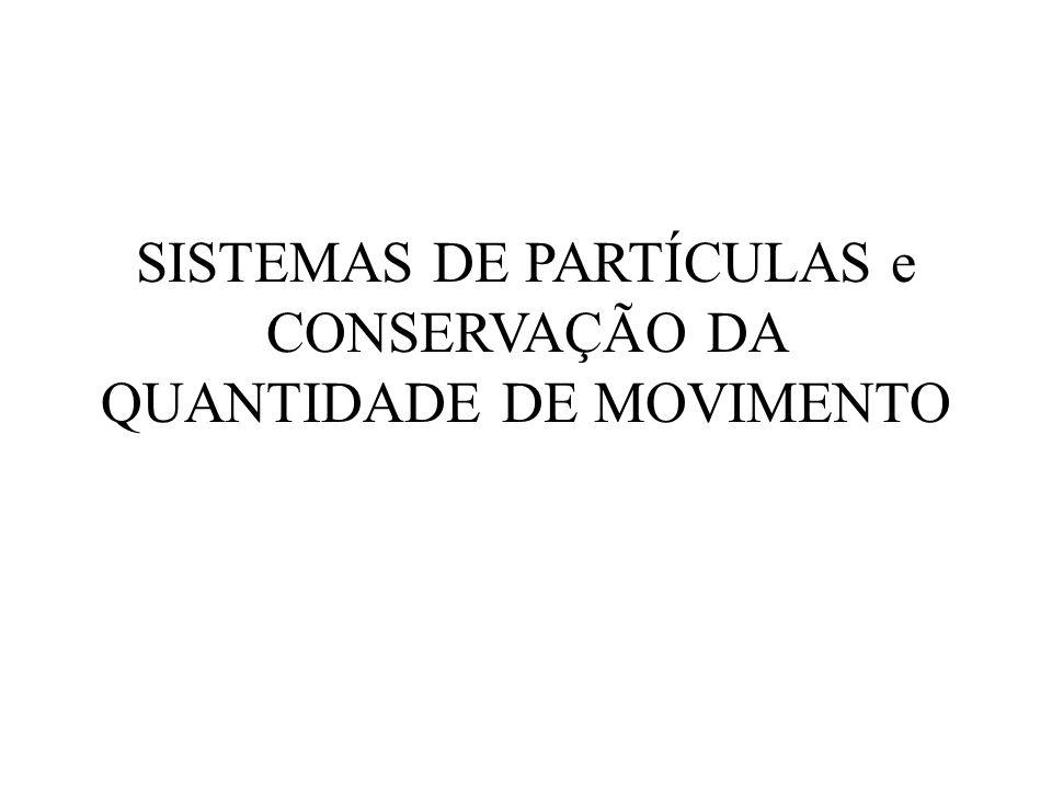 SISTEMAS DE PARTÍCULAS e CONSERVAÇÃO DA QUANTIDADE DE MOVIMENTO