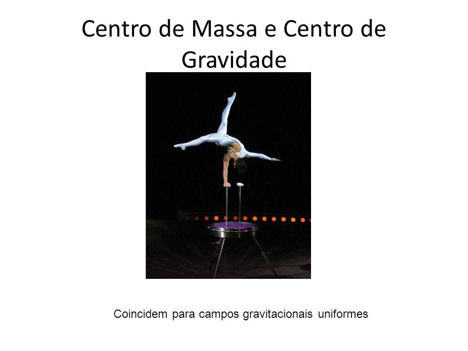 Centro de Massa e Centro de Gravidade