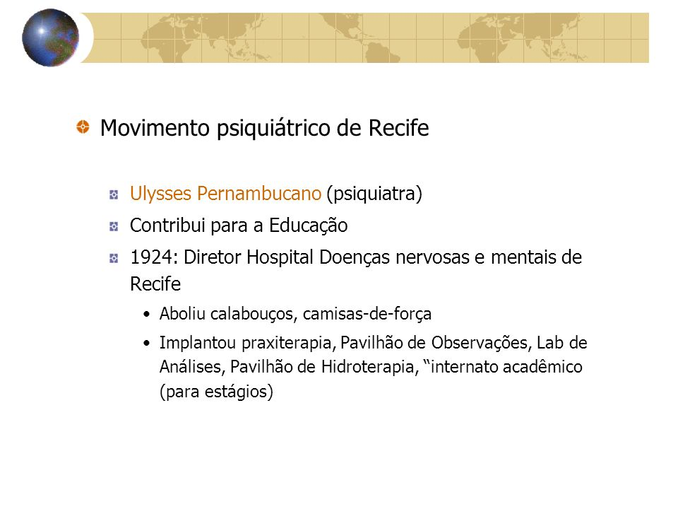Movimento psiquiátrico de Recife