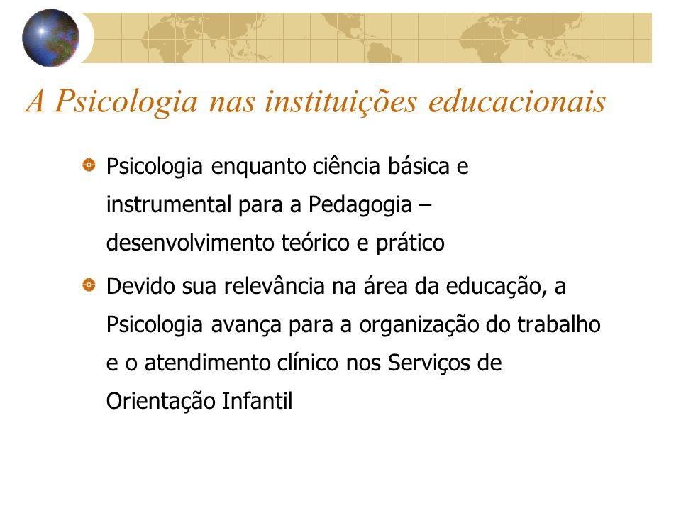 A Psicologia nas instituições educacionais