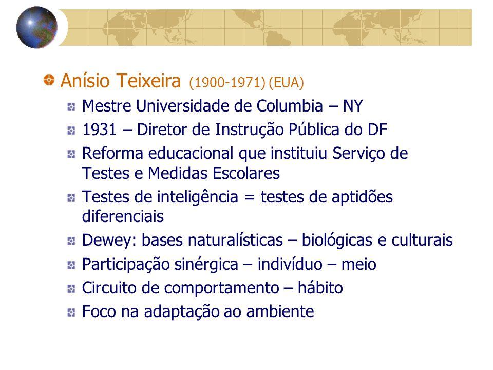 Anísio Teixeira (1900-1971) (EUA)