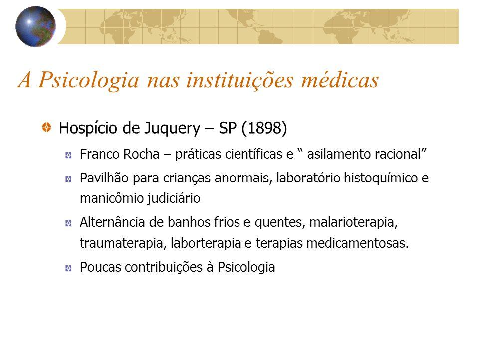 A Psicologia nas instituições médicas