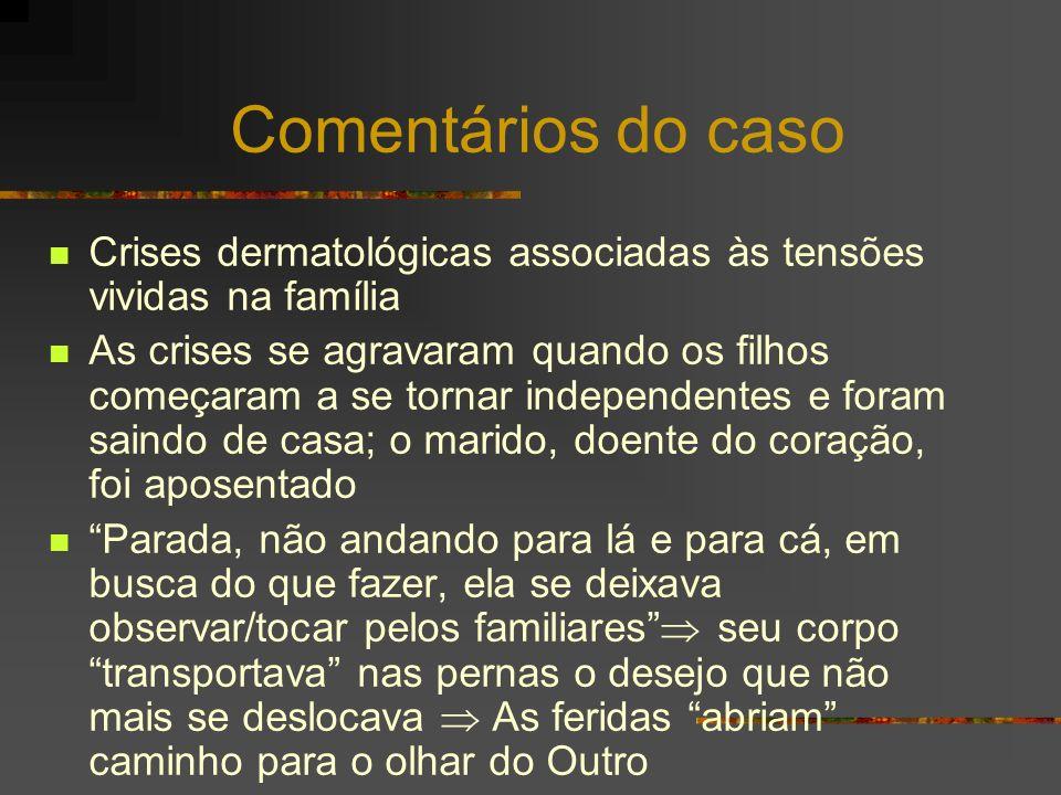 Comentários do caso Crises dermatológicas associadas às tensões vividas na família.