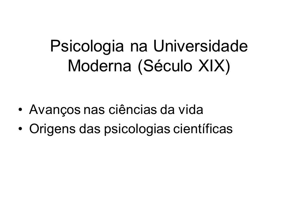 Psicologia na Universidade Moderna (Século XIX)