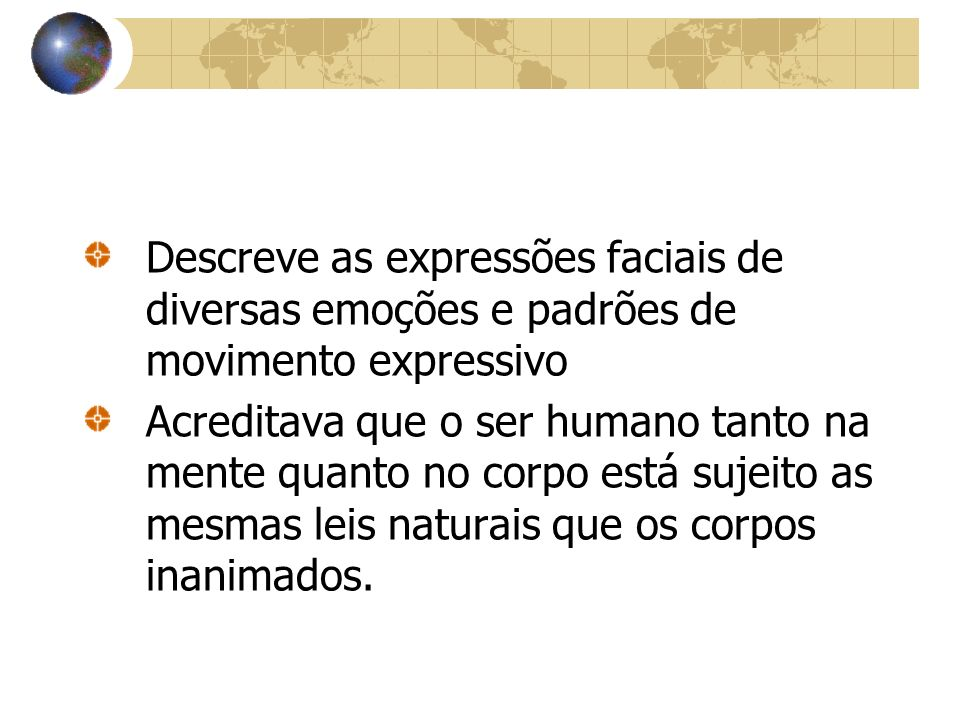 Descreve as expressões faciais de diversas emoções e padrões de movimento expressivo