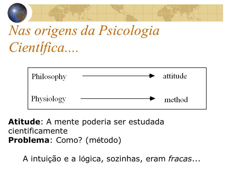Nas origens da Psicologia Científica....