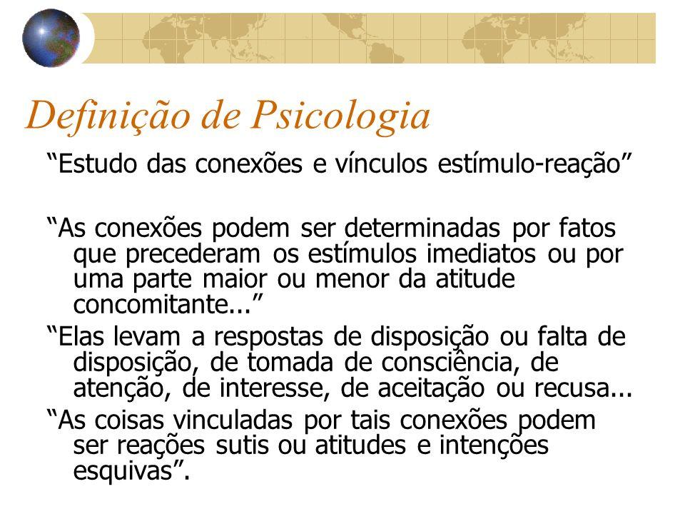 Definição de Psicologia