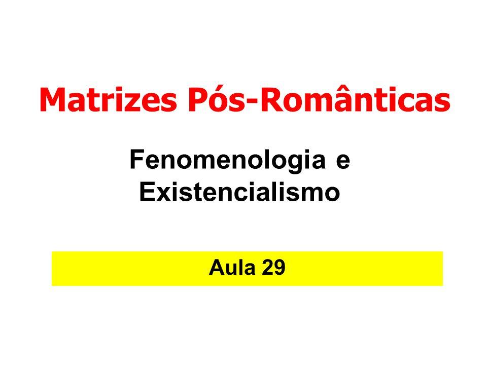 Fenomenologia e Existencialismo