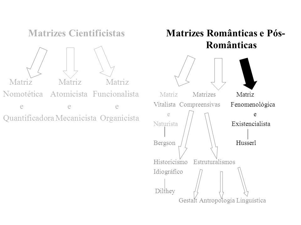 Matrizes Cientificistas Matrizes Românticas e Pós-Românticas