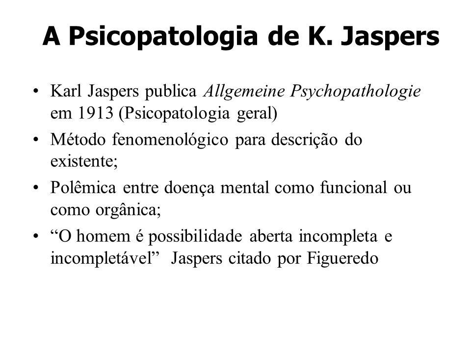 A Psicopatologia de K. Jaspers