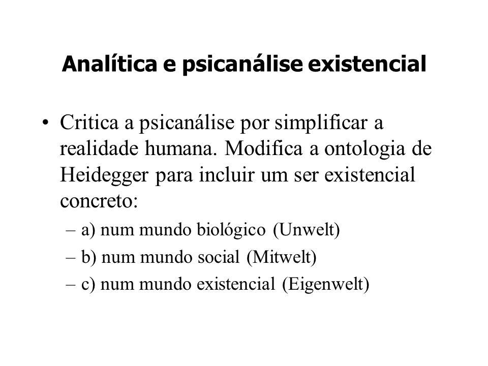 Analítica e psicanálise existencial