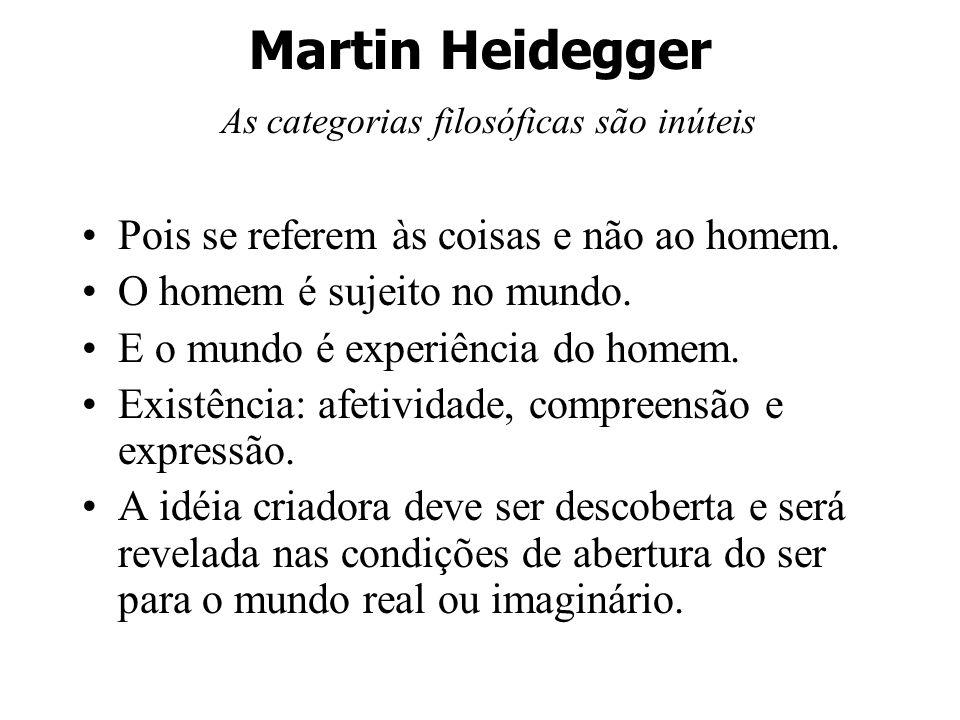 Martin Heidegger As categorias filosóficas são inúteis
