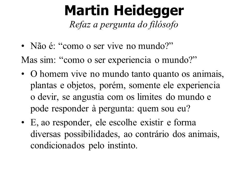 Martin Heidegger Refaz a pergunta do filósofo