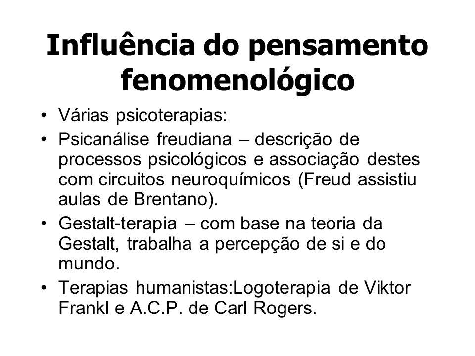 Influência do pensamento fenomenológico