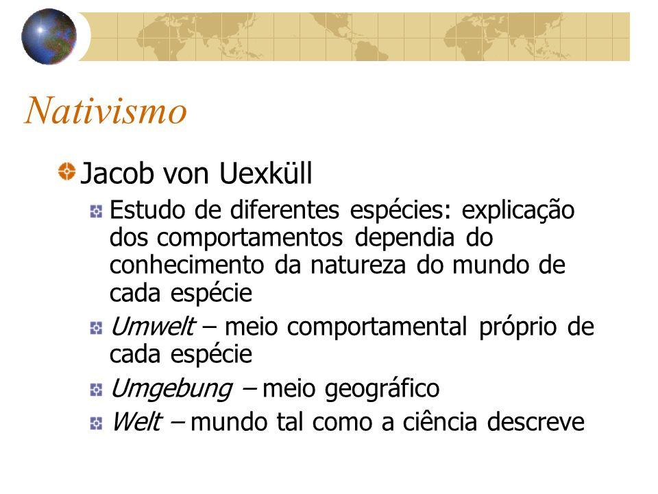 Nativismo Jacob von Uexküll