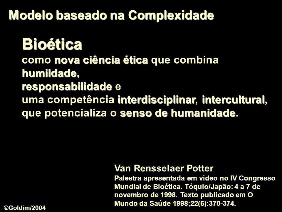 Bioética Modelo baseado na Complexidade