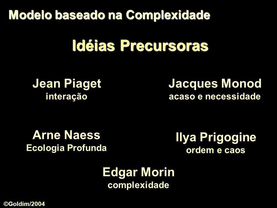 Idéias Precursoras Modelo baseado na Complexidade Jean Piaget