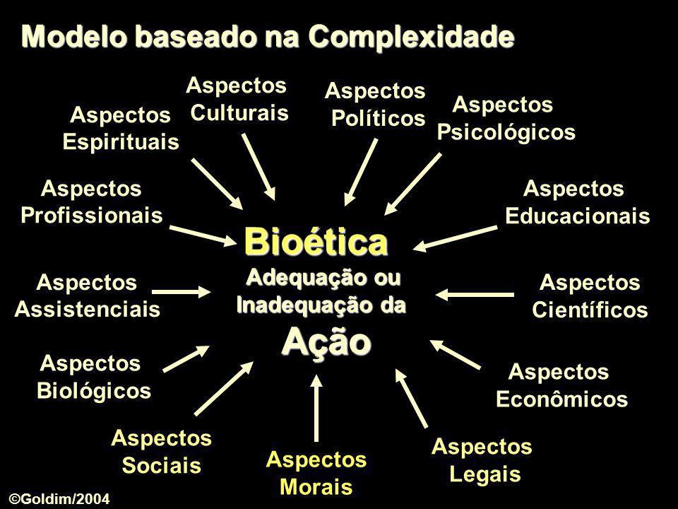 Bioética Adequação ou Modelo baseado na Complexidade