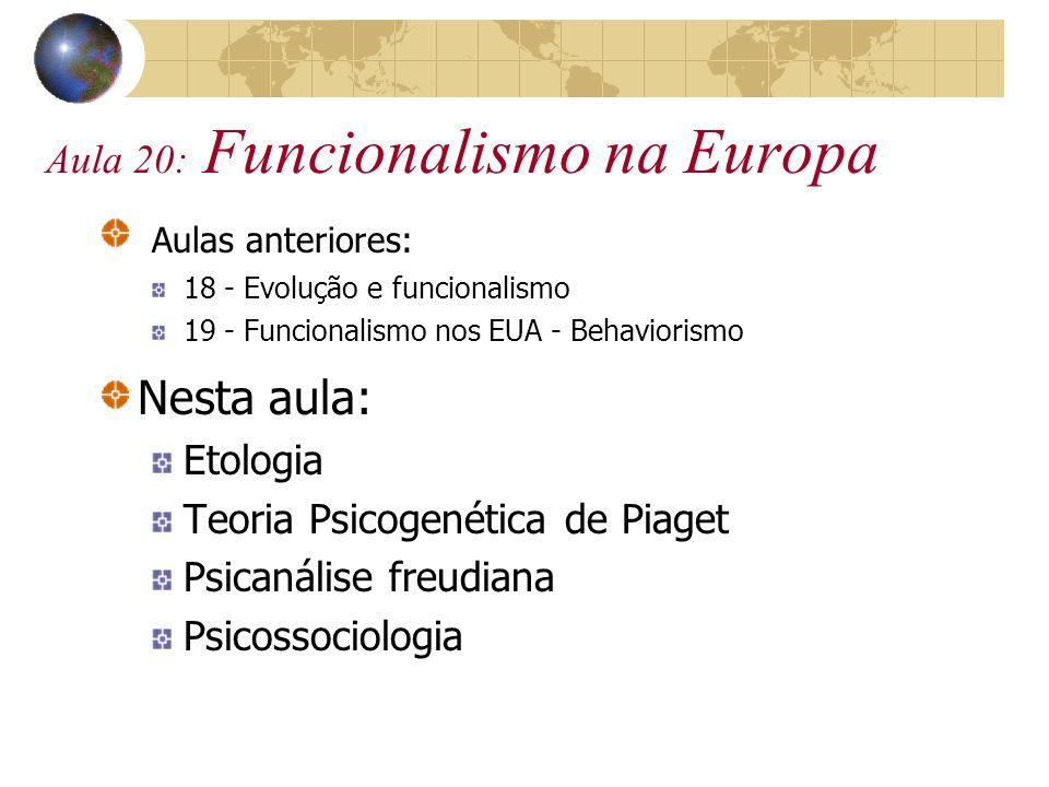Aula 20: Funcionalismo na Europa