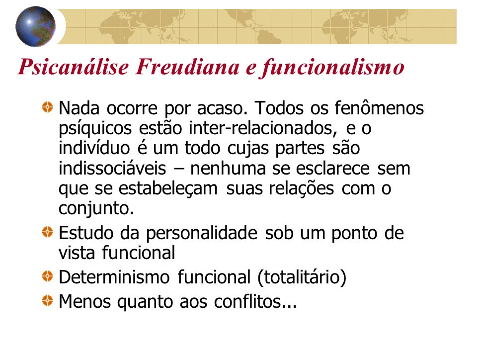 Psicanálise Freudiana e funcionalismo