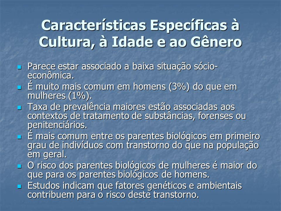 Características Específicas à Cultura, à Idade e ao Gênero