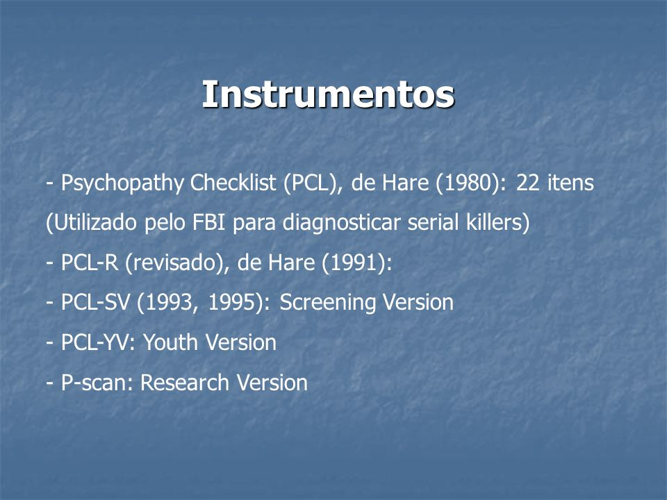 Pclyv Hare Psychopathy Checklist Youth Version Multi Mandegarinfo
