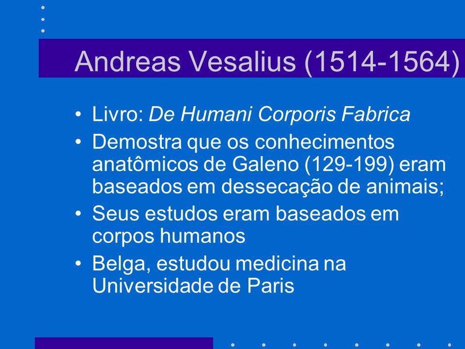 Andreas Vesalius (1514-1564) Livro: De Humani Corporis Fabrica