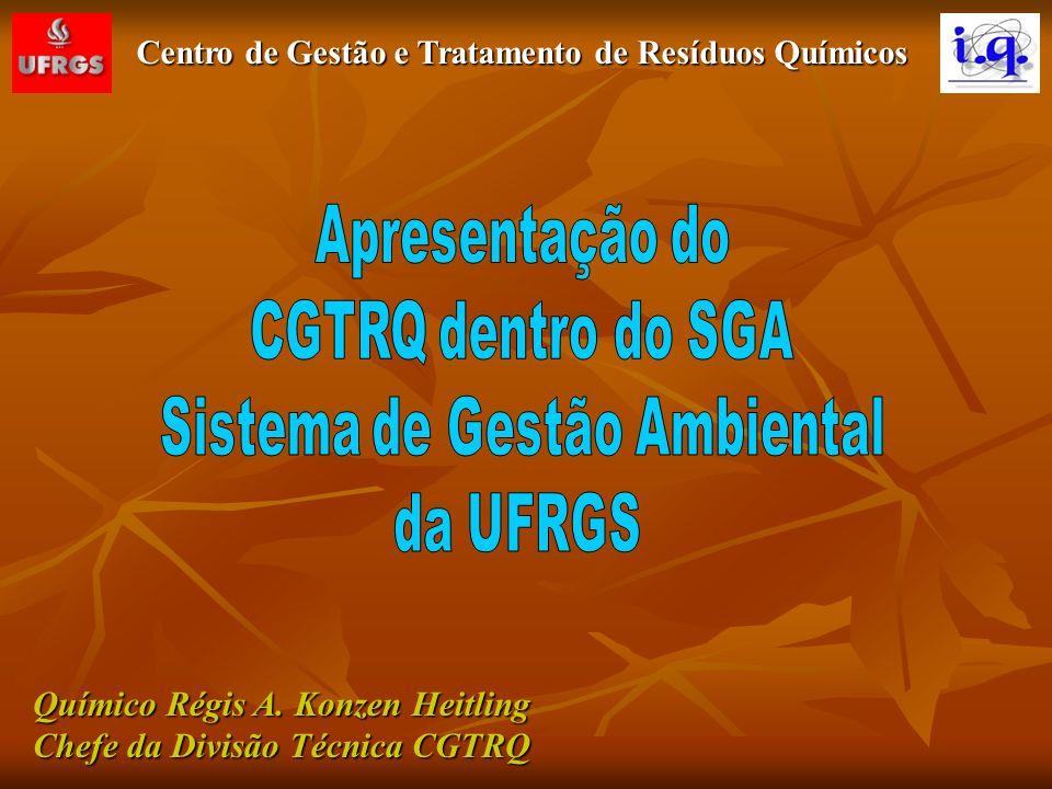 Químico Régis A. Konzen Heitling Chefe da Divisão Técnica CGTRQ