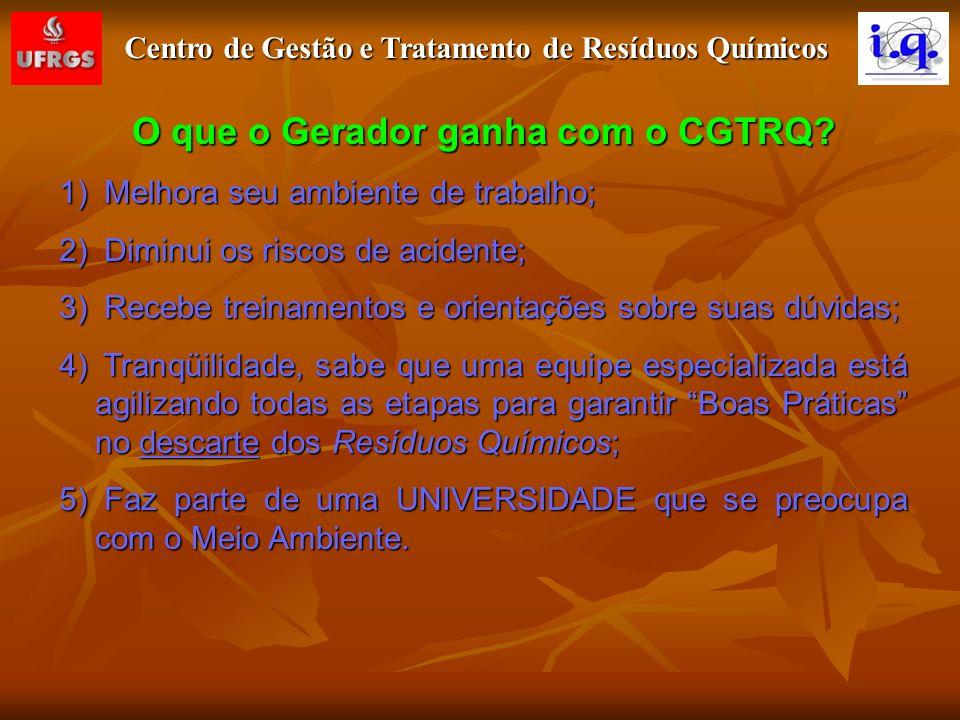 O que o Gerador ganha com o CGTRQ