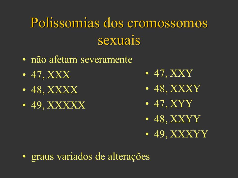 Polissomias dos cromossomos sexuais