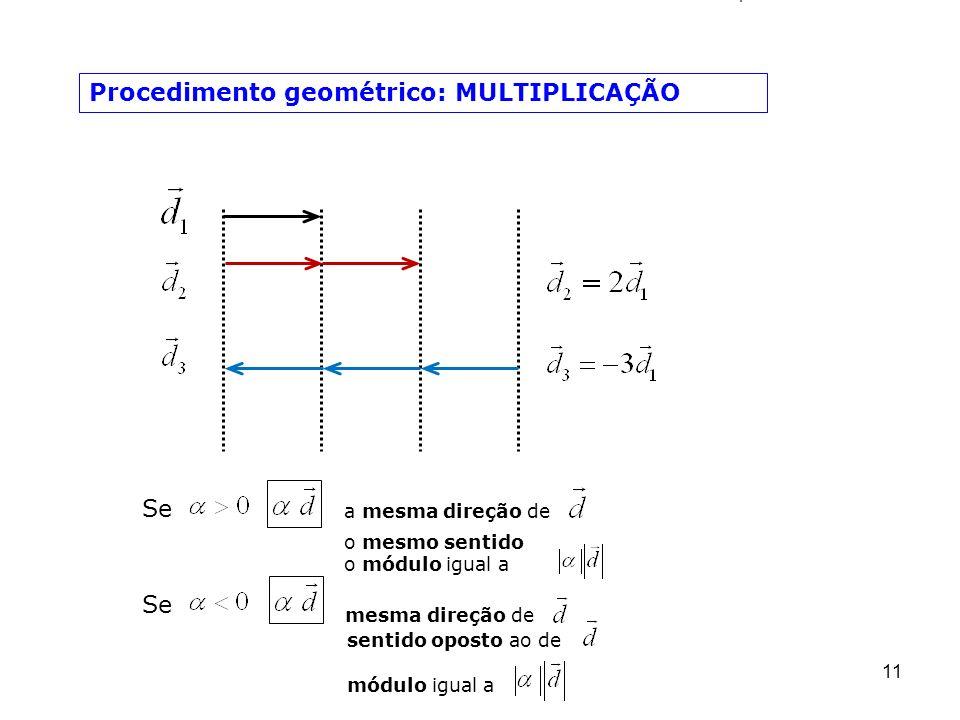 Procedimento geométrico: MULTIPLICAÇÃO